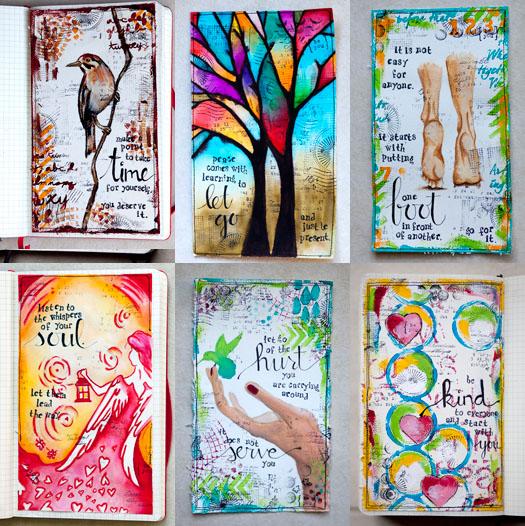 Weekly art journal karenika for Journal painting ideas