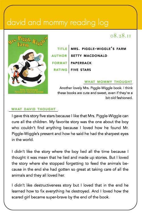 mrs piggle wiggle book report